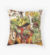 Monster Myriad  Throw Pillow