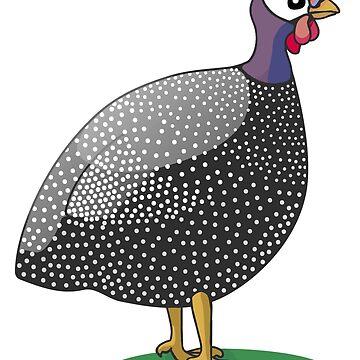 Guinea fowl / hen bird by headpossum