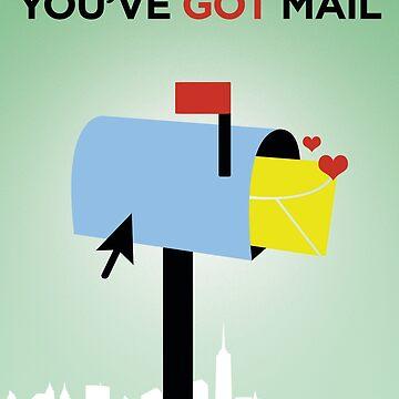 You've Got Mail // Minimalist Art by DrawnToMind