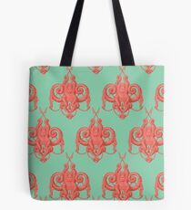 Sea foam green Damask Goddess Zee Tote Bag