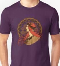 Steampunk Zodiac (Mucha Homage) Unisex T-Shirt