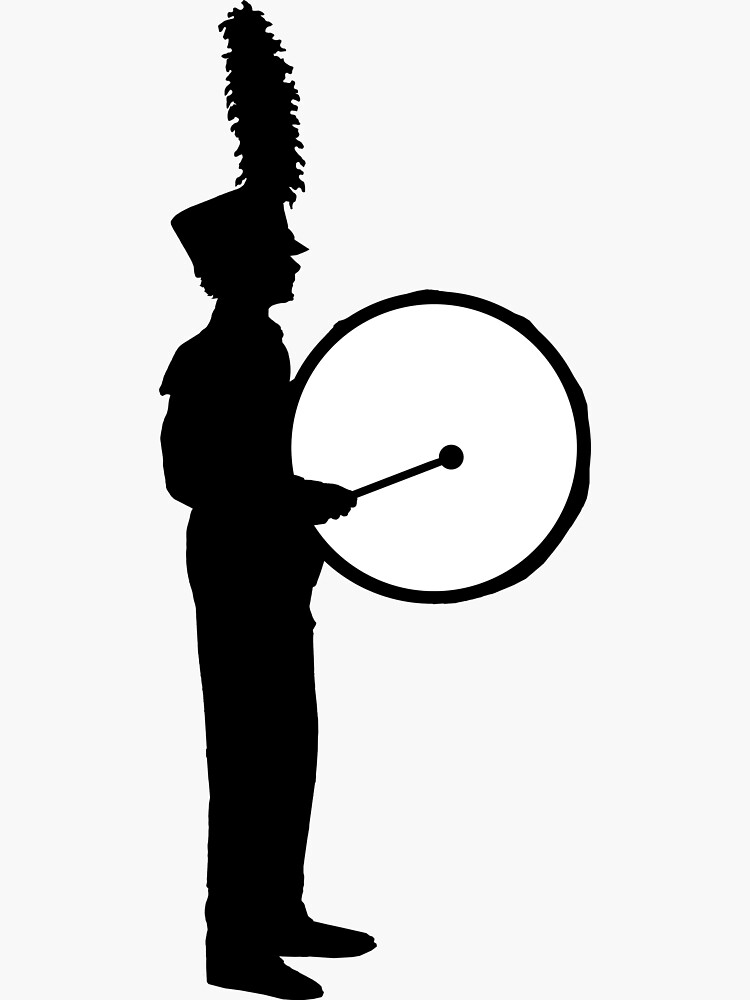 Marching Band Bass Drummer, Standing by Vistascribe
