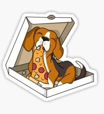 Beagle Pizza Lover Sticker