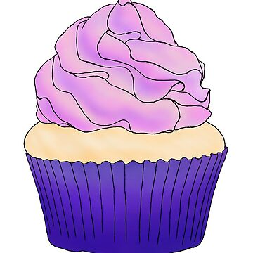 Purple Cupcake by kidwithglasses