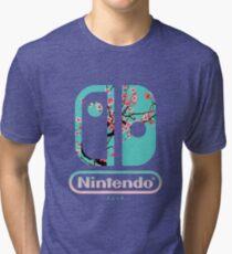 Camiseta de tejido mixto Interruptor de nintendo