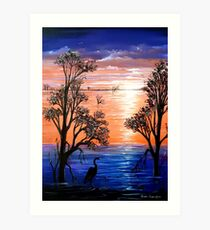 Sunset Blues Art Print