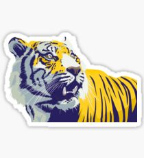 Purple and Gold Tiger | Bayou Bengal Sticker