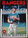 420 - Steve Buechele by Foob's Baseball Cards