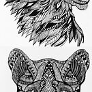 Lion and Panther Totem Animal  by RusticRaw