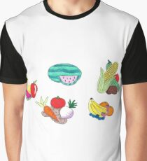 Fruits and Veggies Single Version Graphic T-Shirt