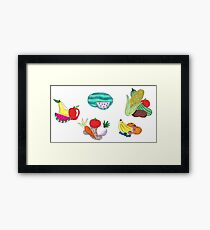 Fruits and Veggies Single Version Framed Print