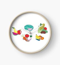 Fruits and Veggies Single Version Clock