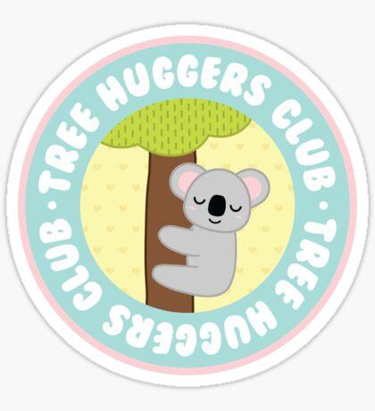 koala tree huggers club Sticker