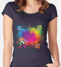 Splatoon - Ink Burst Women's Fitted Scoop T-Shirt