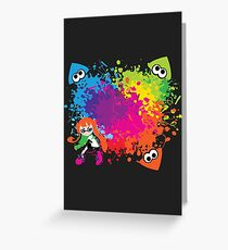 Splatoon - Ink Burst Greeting Card