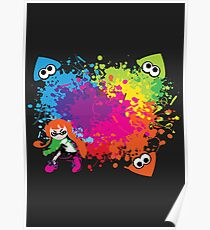 Splatoon - Ink Burst Poster