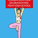 Yoga School Graduate Congratulations. by KateTaylor