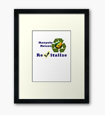 Save Mother Earth Tee-shirt and Stickers Framed Print