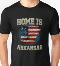 Home is Arkansas USA US map gift unique fans Proud Strong Support Unisex T-Shirt