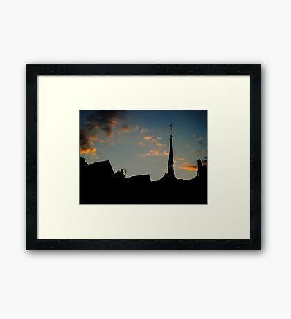 Honfleur silhouette Framed Print