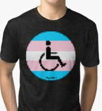 Handicap and singularity LGBT 2 by RootCat and marie b. Tri-blend T-Shirt
