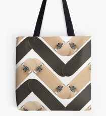Skate or Die Chevron Pattern Tote Bag