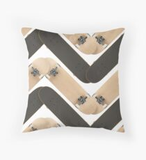 Skate or Die Chevron Pattern Throw Pillow