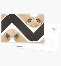 Skate or Die Chevron Pattern Postcards