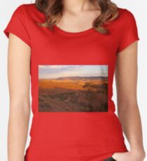 Sunset, Bendleby Ranges, Australia Fitted Scoop T-Shirt