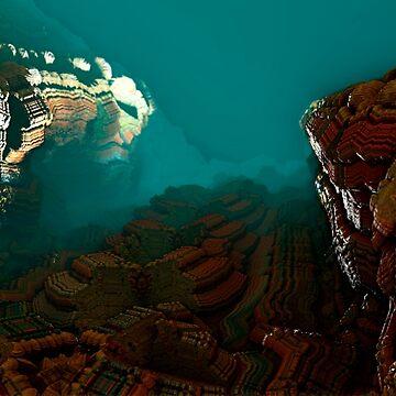 Arid canyon fractal landscape by christianmuller