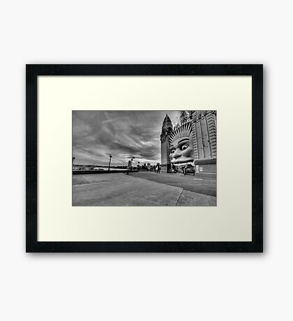 Icon (Monochrome) -  Luna Park , Sydney - The HDR Experience Framed Print