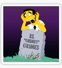 "RL ""Grimey"" Grimes - Purple Sky Background  Sticker"