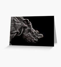 Rhino Portrait Fine Art Print Greeting Card