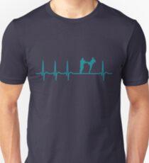 Heartbeat Kickboxing T-Shirt - Cool Funny Nerdy Comic Graphic Heartbeat Kickboxing Kickboxer Kcikbox Club Coach Team Humor Sayings Sayings Shirt Gift Gift Idea Unisex T-Shirt