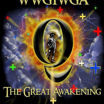 WWG1WGA The Great Awakening. Original Hand Drawn Art.  by TrumpQAnon