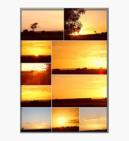 Sunset Collage...MELTON VICTORIA Photographic Print