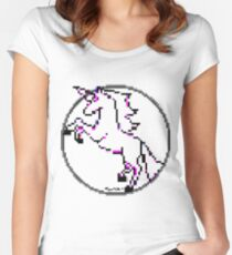 Rough Unicorn by RootCat Women's Fitted Scoop T-Shirt
