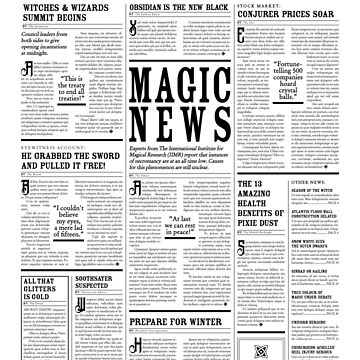 The Daily Mage Fantasy Newspaper by GrandeDuc