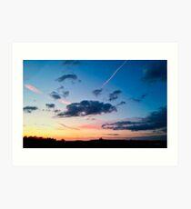 Lincolnshire Sunset Art Print