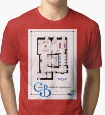 Carrie Bradshaws apartment as a Poster (Movie version) Tri-blend T-Shirt