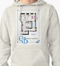 Carrie Bradshaws apartment as a Poster (Movie version) Pullover Hoodie