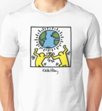 Keith Haring, Earth, Peace Unisex T-Shirt
