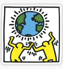 Keith Haring, Earth, Peace Sticker