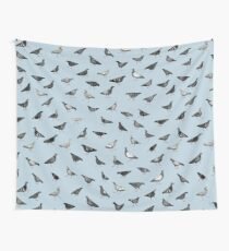 Pigeons Doing Pigeon Things Wall Tapestry