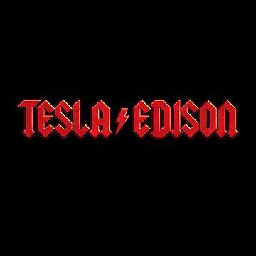 Tesla vs. Edison by nicebleed