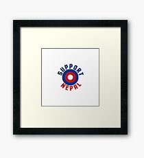 Support Nepal EARTHQUAKE RELIEF FUND DESIGN Framed Print