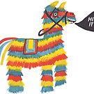 Let's Hit It! Funny colorful piñata donkey  by shoshannahscrib
