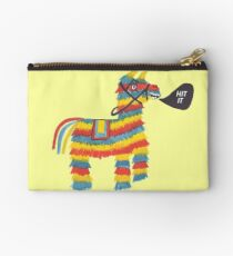 Let's Hit It! Funny colorful piñata donkey  Studio Pouch