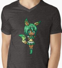 Leafeon Magical Girl Chibi Men's V-Neck T-Shirt
