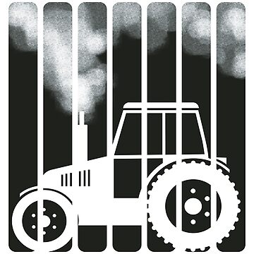 Farmer, agriculture and smoking tractor by MMchen